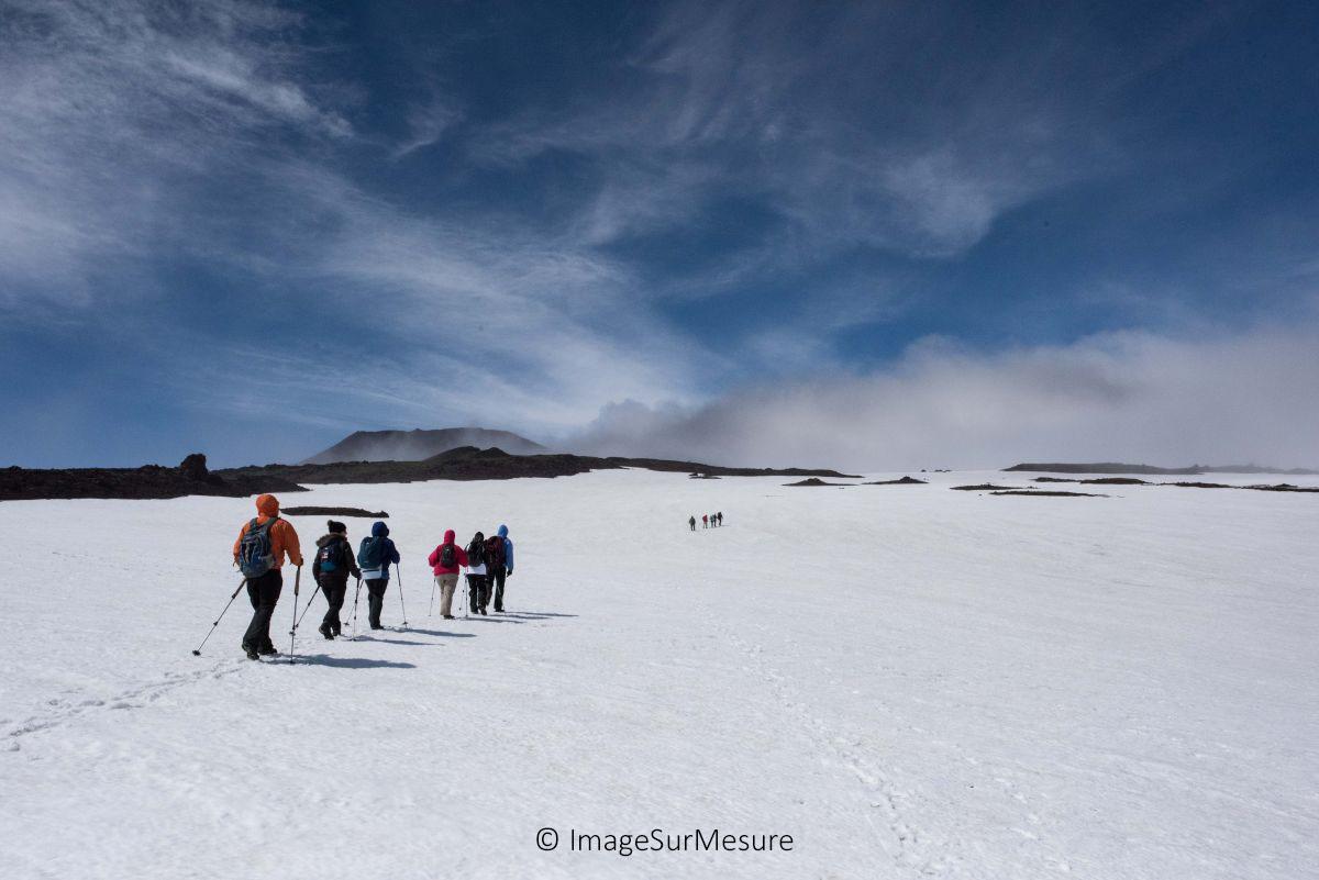 accompagnement image sur mesure, wordpress, équipe, cordée, ascension volcan kamtchatka